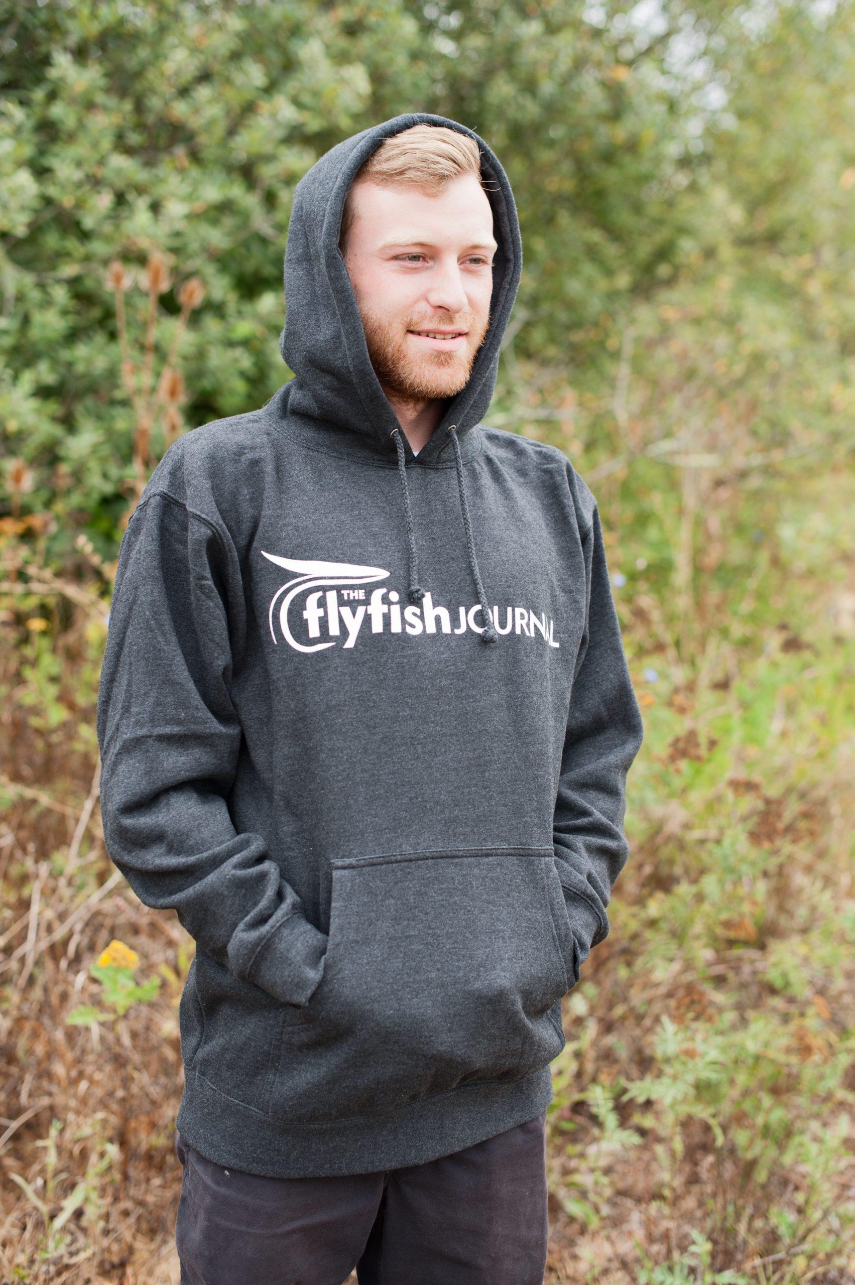 The Flyfish Journal logo hoodie.