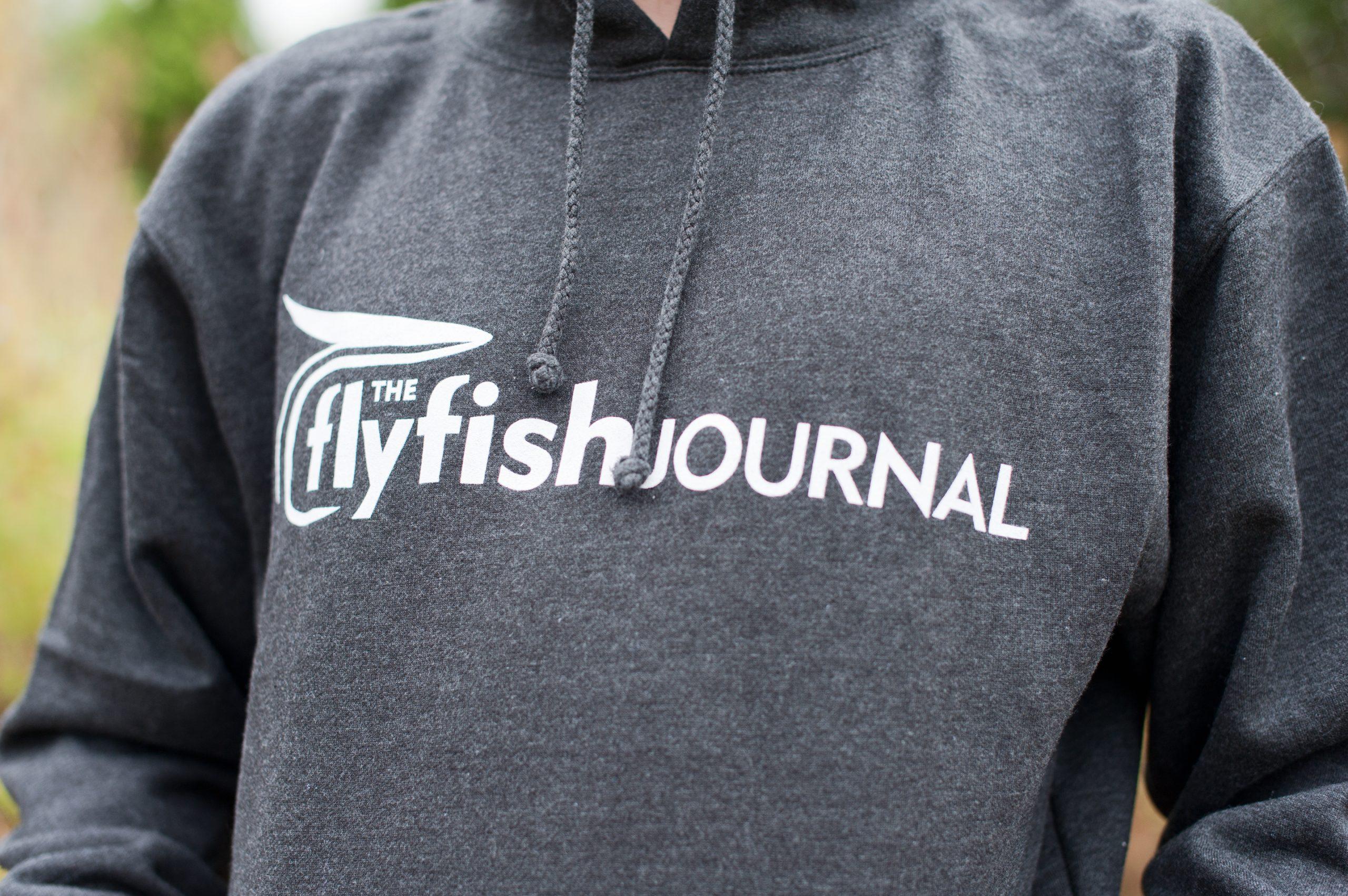 Close up look at the TFFJ Logo hoodie.