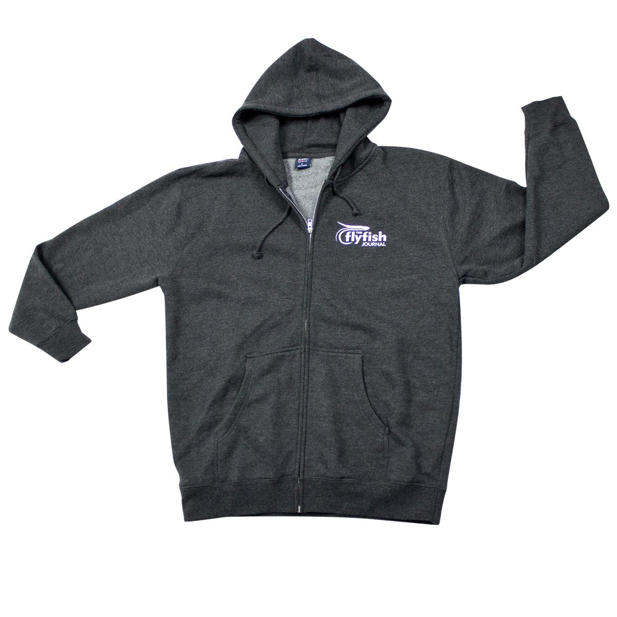 The Flyfish Journal zip hoodie.