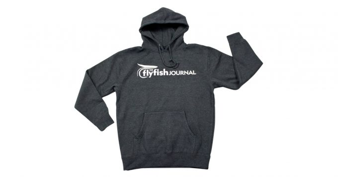 The Flyfish Journal logo hoodie.