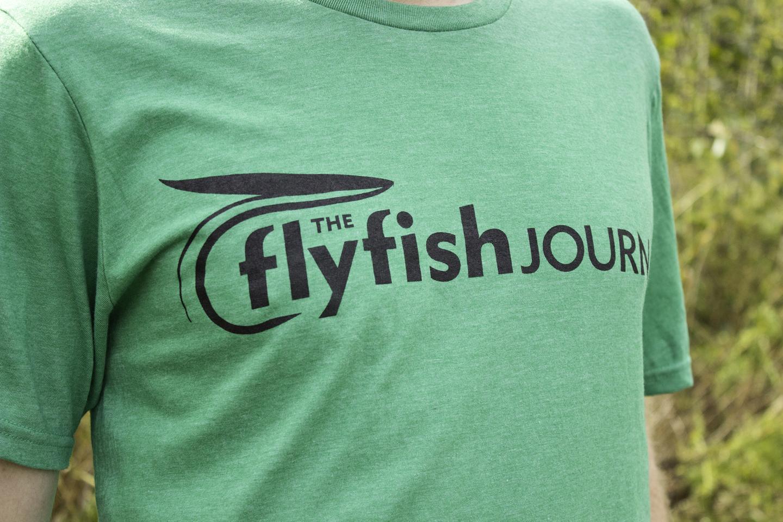 The Flyfish Journal green t-shirt