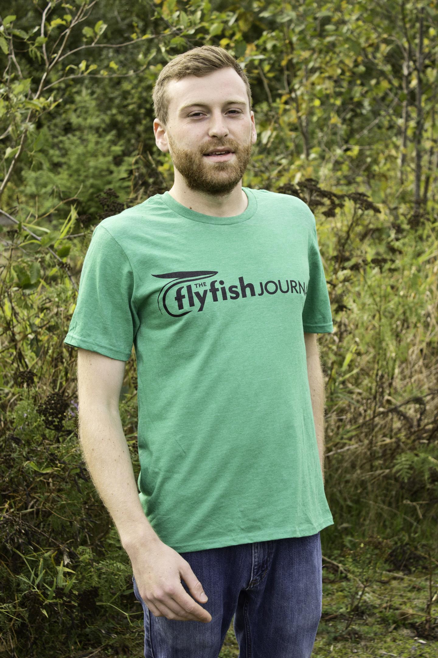 TFFJ green t-shirt.