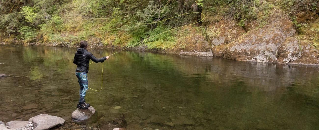 flyfishing, FishWear leggings, review